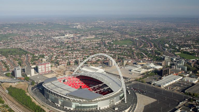 2007: An Aerial view of the new Wembley Stadium
