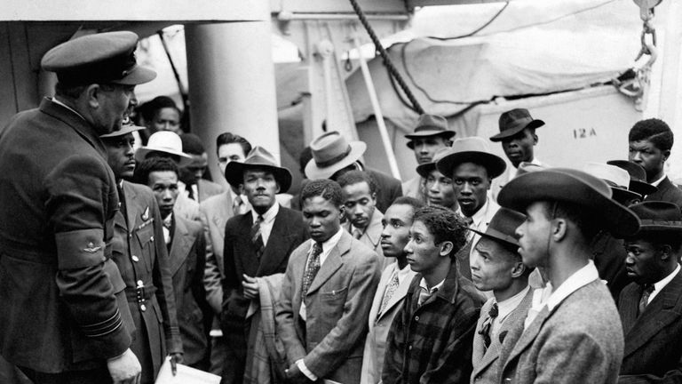 Jamaican immigrants welcomed to Britain
