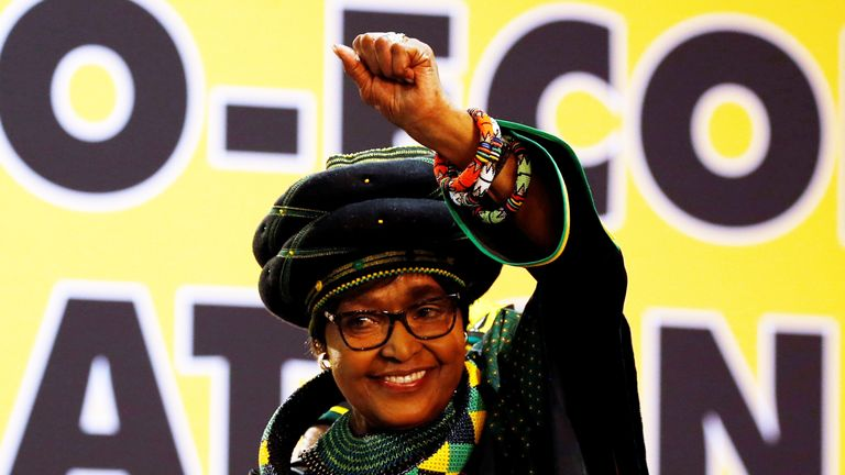 Winnie Madikizela Mandela, ex-wife of former South African president Nelson Mandela