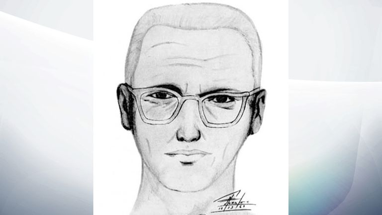 An artist's sketch based on a victim's testimony about the Zodiac Killer in California in the 60s and 70s