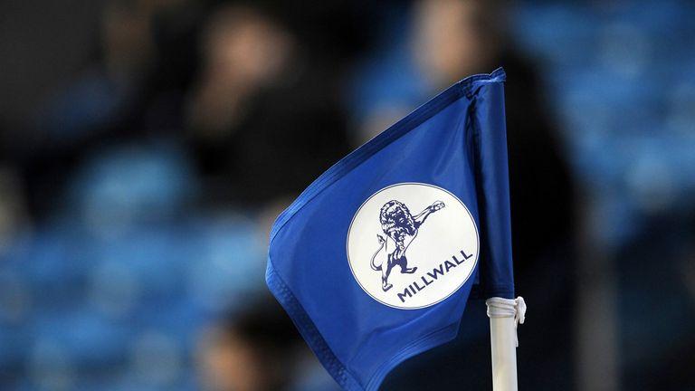 A Millwall branded corner flag, April 2013