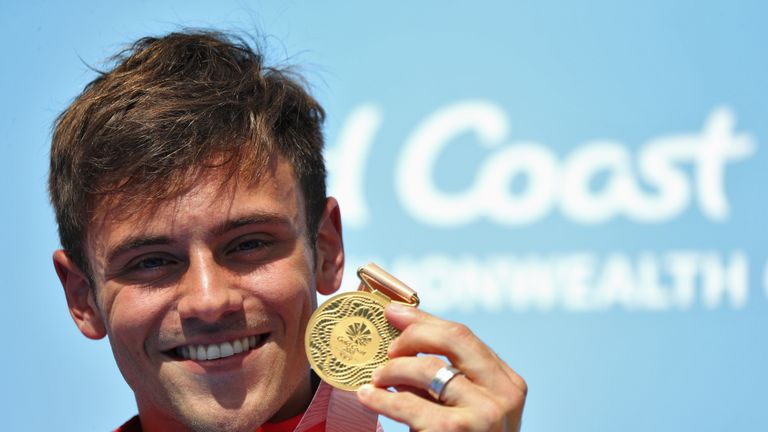 Gold medallist Tom Daley