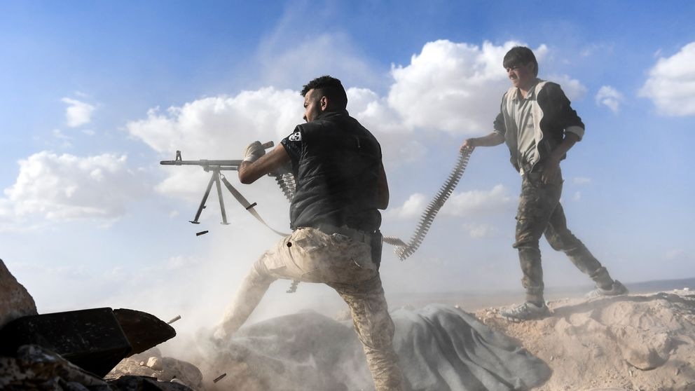 The advance toward Aleppo by pro-government forces