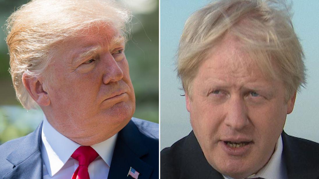 Boris Johnson is backing Donald Trump for the Nobel Peace Prize