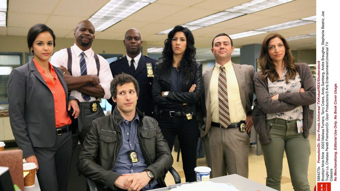 The cast of Brooklyn Nine-Nine, which has been revived by NBC