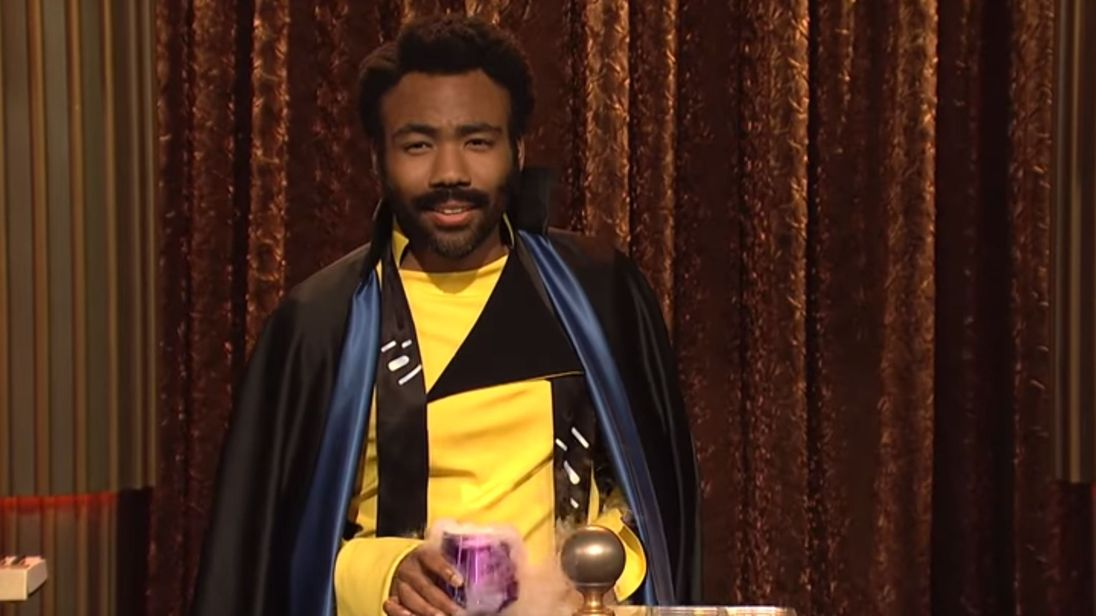Donald Glover as Lando Calrissian on SNL. Credit: Saturday Night Live