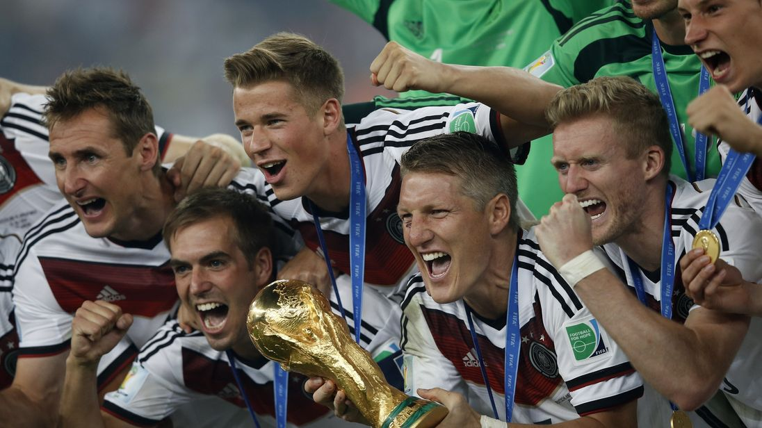 Germany are the current holders of the World Cup