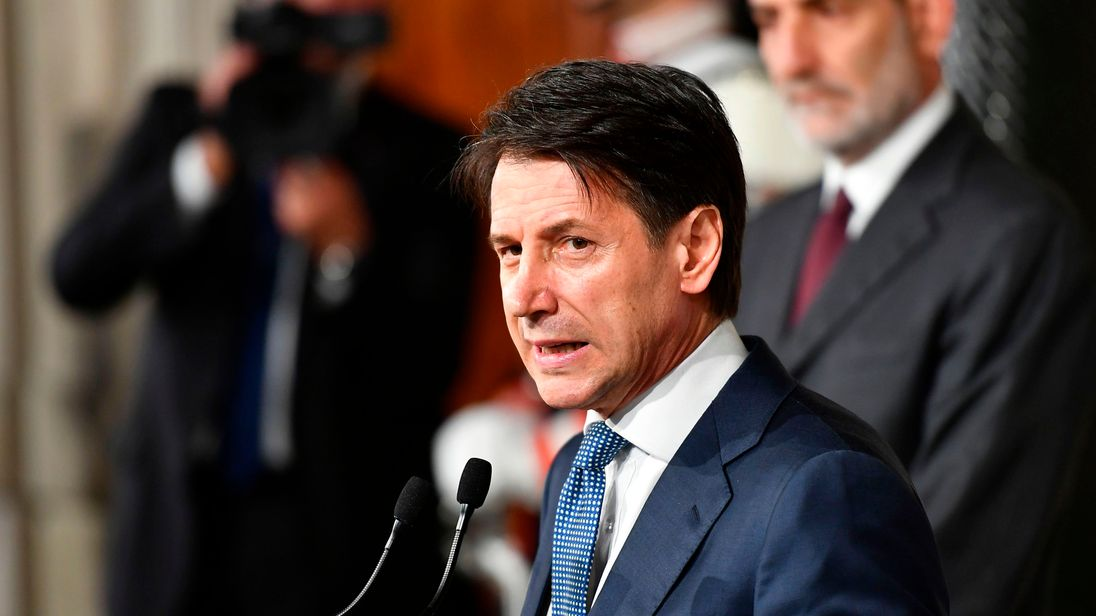 Italy's new PM Giuseppe Conte begins work