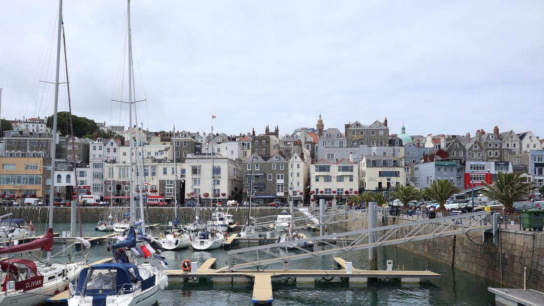 A general view of Saint Peter Port in Guernsey