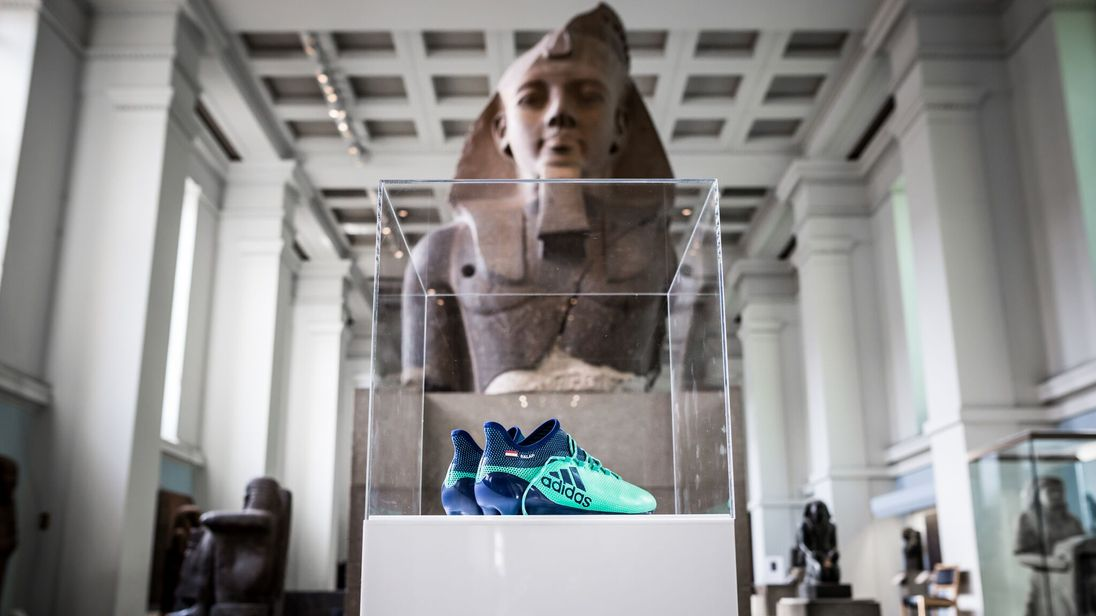 Mo Salah's boots in the British Museum