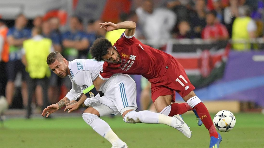 Image result for Sergio Ramos with salah