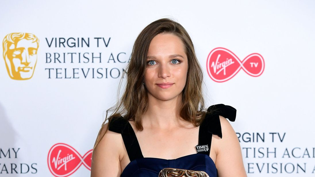 Molly Windsor with the Leading Actress award in the press room at the Virgin TV British Academy Television Awards 2018 held at the Royal Festival Hall, Southbank Centre, London. PRESS ASSOCIATION Photo. Picture date: Sunday May 13, 2018. See PA story SHOWBIZ Bafta. Photo credit should read: Ian West/PA Wire