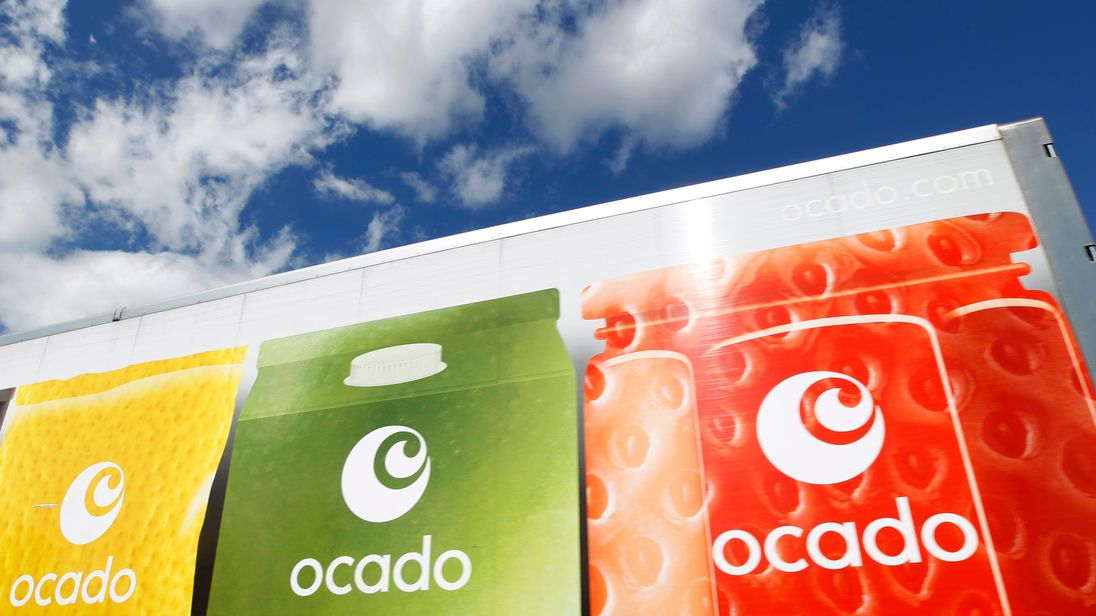 An Ocado truck returns to the Ocado depot in Hatfield, southern England July 21, 2010