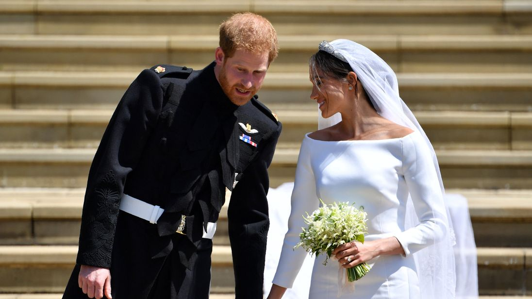 Prince Harry, Duke of Sussex and his wife Meghan, Duchess of Sussex