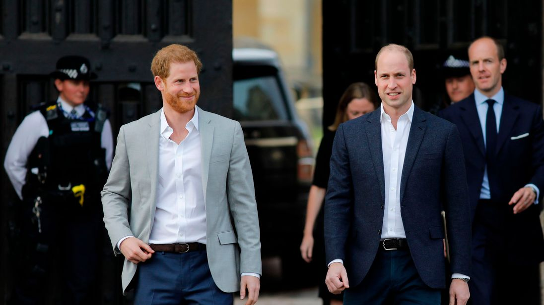 Prince Harry and Prince William pick up rubbish due to their dad