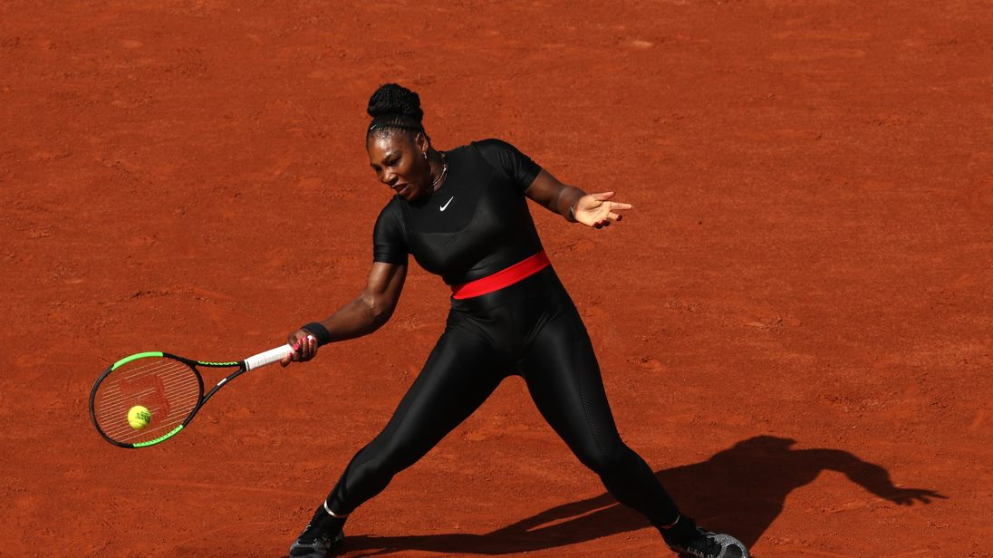 The 36-year-old is playing in the French Open