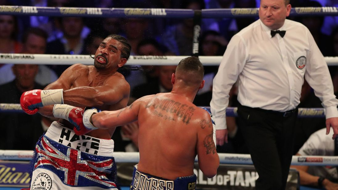 Haye was beaten by Bellew for a seconf time