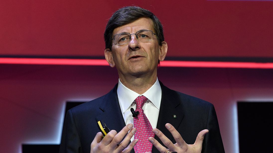 Vodafone falls 3% on CEO resignation