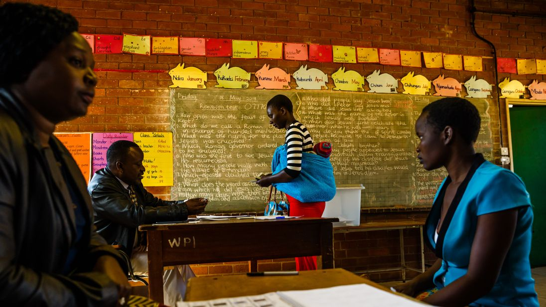Image result for Zimbabweans ready to vote in first post Mugabe election