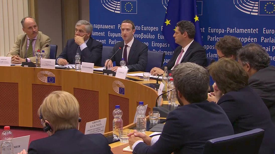 Mark Zuckerberg tells European Union he's 'sorry' for Facebook's privacy missteps