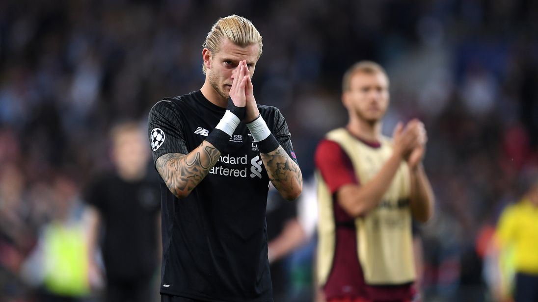 during the UEFA Champions League Final between Real Madrid and Liverpool at NSC Olimpiyskiy Stadium on May 26, 2018 in Kiev, Ukraine.