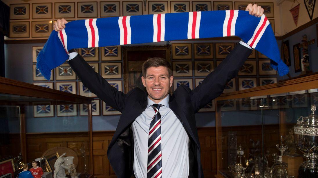 Image result for steven gerrard new rangers manager