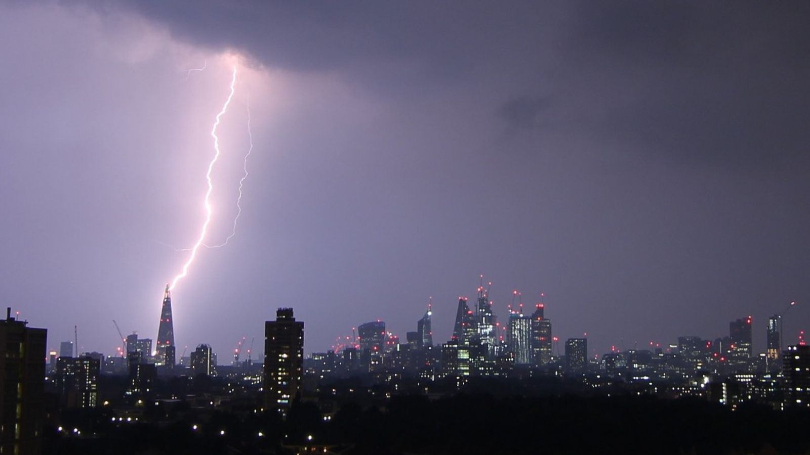 thunderstorms deliver more than 60 000 lightning strikes across uk