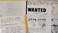 Letters sent to the San Francisco Chronicle by a man who called himself Zodiac