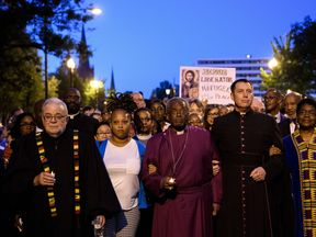 Bishop Michael Curry with the Reclaiming Jesus group in Washington