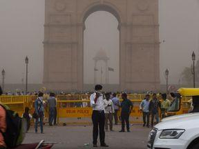 Dust storm in New Delhi