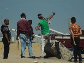 Palestinians said they only have rocks while Israelis have guns