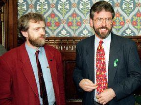 Jermey Corbyn and Gerry Adams in 1995