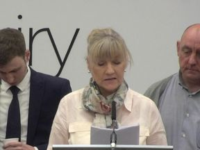 Anne-Marie Murphy read a tribute to her brother, Denis
