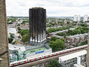 Grenfell Tower, one month after the fire