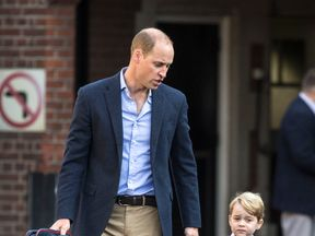 Rashid shared a picture of Prince George and the address of Thomas' School in Battersea