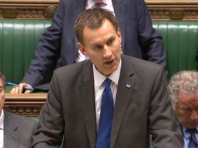 "Health Secretary Jeremy Hunt making a statement on the NHS in the House of Commons, London, as he has been accused of being ""completely out of touch"" with the scale of the problems facing A&E departments across the country."