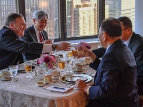 Kim Yong Chol and the US secretary of state ate steak, corn, and cheese during their working dinner in New York.