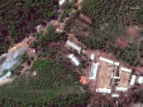 Punggye-ri nuclear test facility pictured on Wednesday