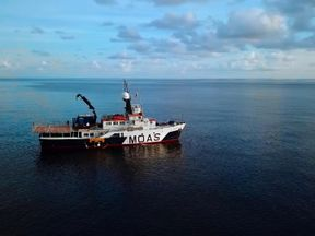 This humanitarian MOAS ship is finishing a month-long mission in the area