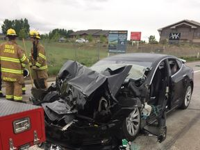 Police have reported the crash to the national safety board. Pic: South Jordan Police Department