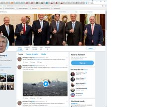 President Trump's official twitter account