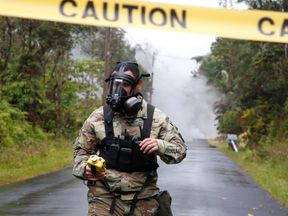 The Hawaii National Guard has been measuring levels of toxic sulpur dioxide gas
