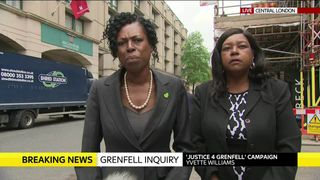 Families pay tribute to Grenfell victims