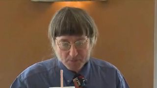 Don Gorske enjoys his 30,000 Big Mac