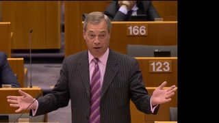 Nigel Farage said the EU is not a nation