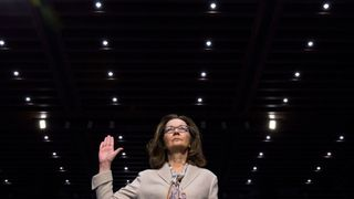 CIA director nominee and acting CIA Director Gina Haspel is sworn in to testify at her Senate Intelligence Committee confirmation hearing on Capitol Hill in Washington, U.S., May 9, 2018.