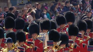 Band of the Irish Guards march through Windsor