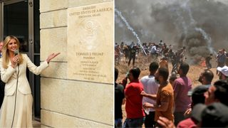 Ivanka Trump officially opens the embassy as clashes roar on in Gaza