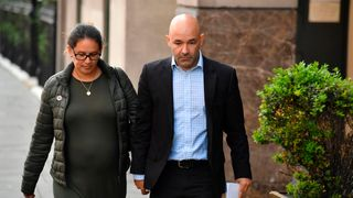 Marcio and Andreia Gomes arrive at the inquiry to remember stillborn Logan