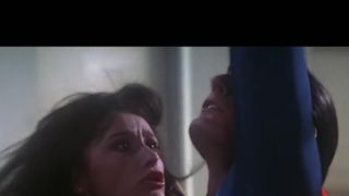 Margot Kidder and Christopher Reeve in a a scene from Superman